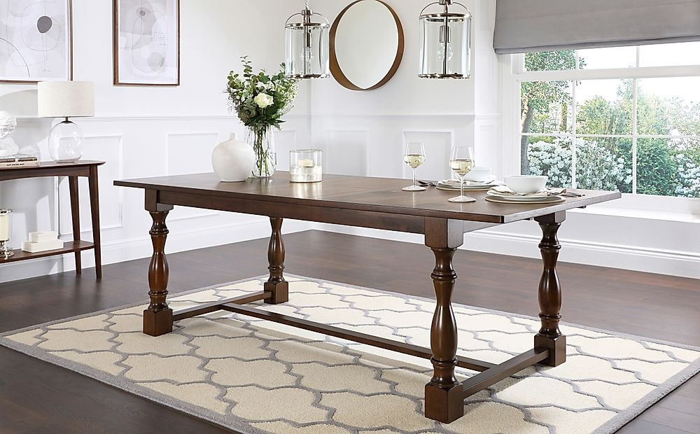 Devonshire Dark Wood Extending Dining Table-180-220cm