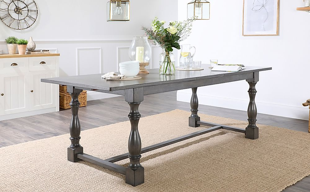 Devonshire Grey Wood 180-220cm Extending Dining Table