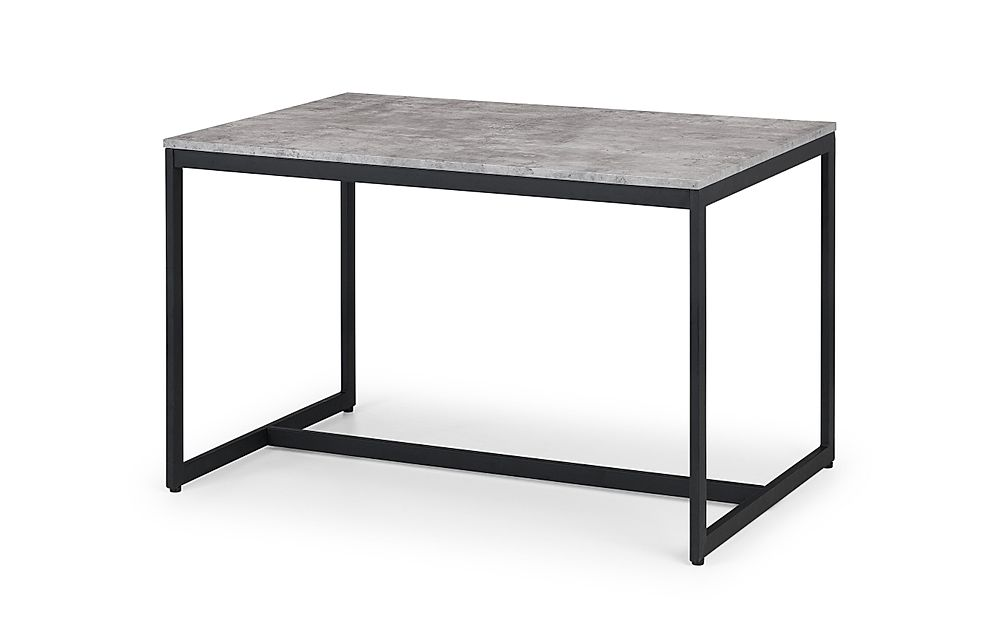 Thorpe Metal and Concrete 120cm Industrial Dining Table