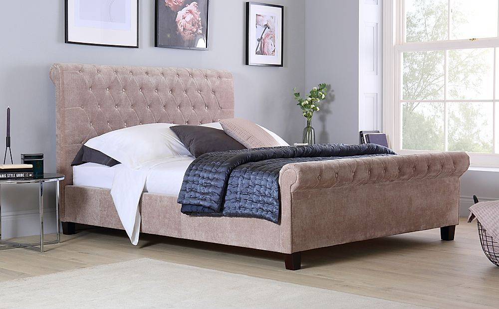 Orbit Mink Velvet King Size Bed