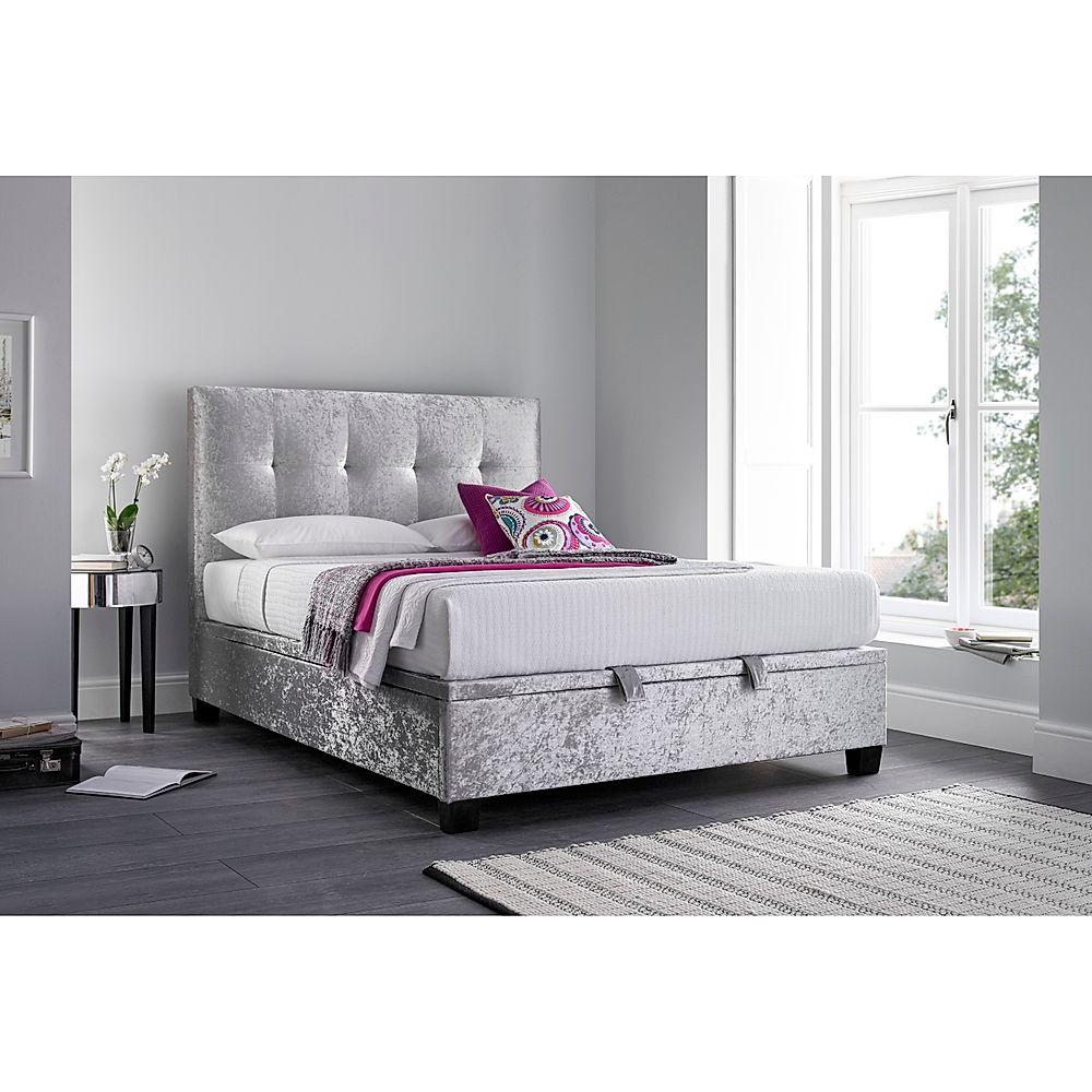 Kaydian Walkworth Silver Fabric Ottoman Super King Size Bed