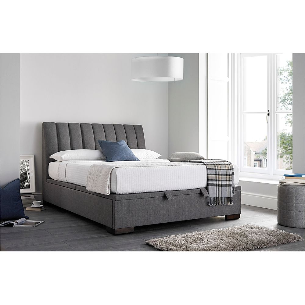 Kaydian Lanchester Ottoman Storage Bed - King Size - Grey