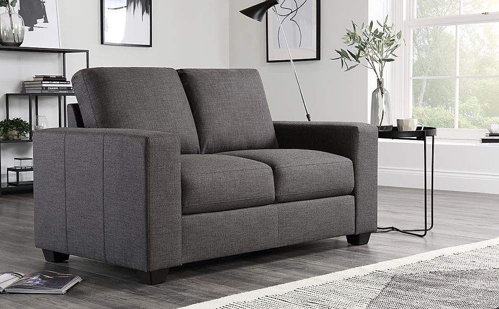 Mission Fabric 2 Seater Sofa - Slate Grey
