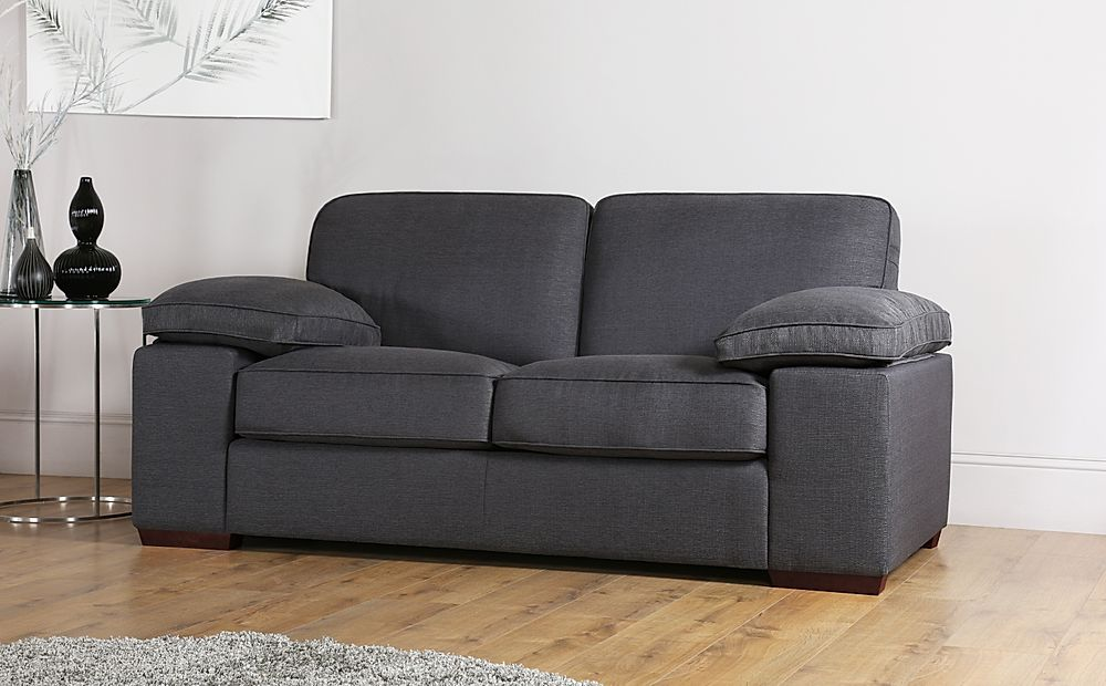 Cassie Charcoal Fabric Sofa 2 Seater