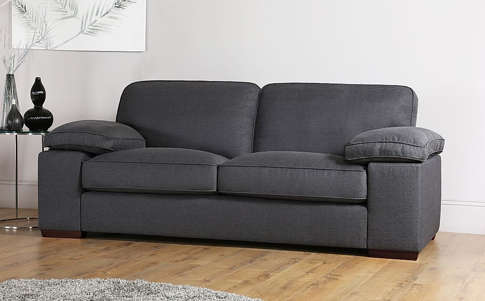 Cassie Charcoal Fabric Sofa 3 Seater