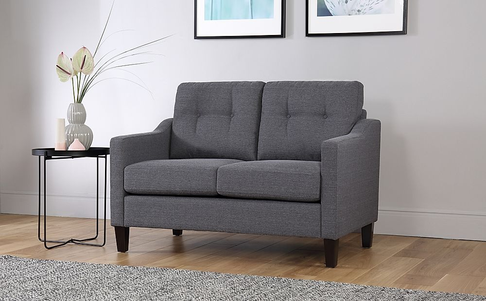 Hepburn Slate Fabric Sofa 2 Seater