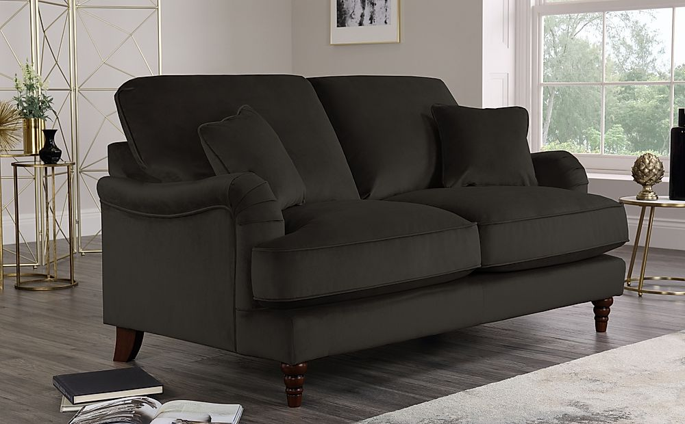 Charleston Charcoal Velvet 2 Seater Sofa