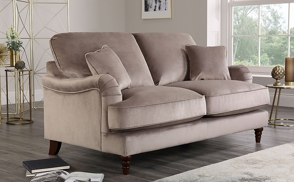 Charleston Mink Velvet 2 Seater Sofa