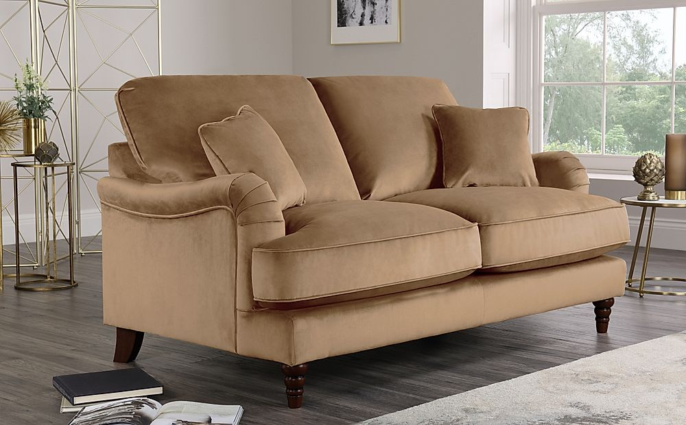 Charleston Oatmeal Velvet 2 Seater Sofa