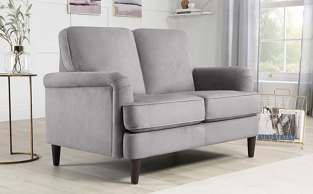 Pembroke Grey Velvet Sofa 2 Seater