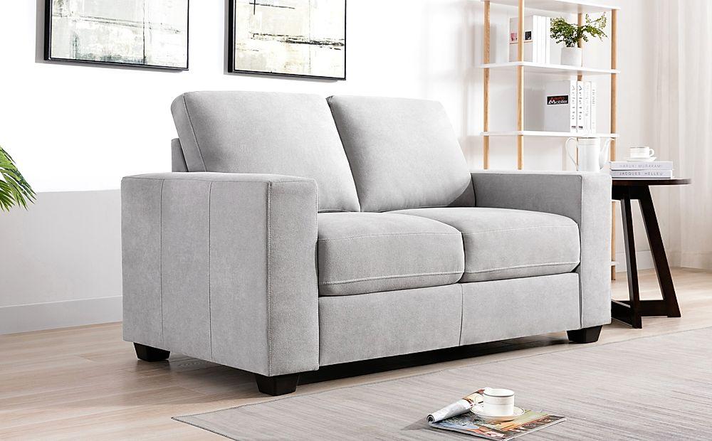 Mission Dove Grey Plush Fabric 2 Seater Sofa