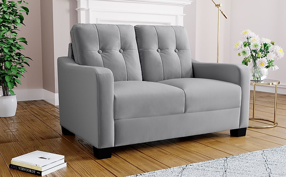 Belmont Grey Velvet 2 Seater Sofa