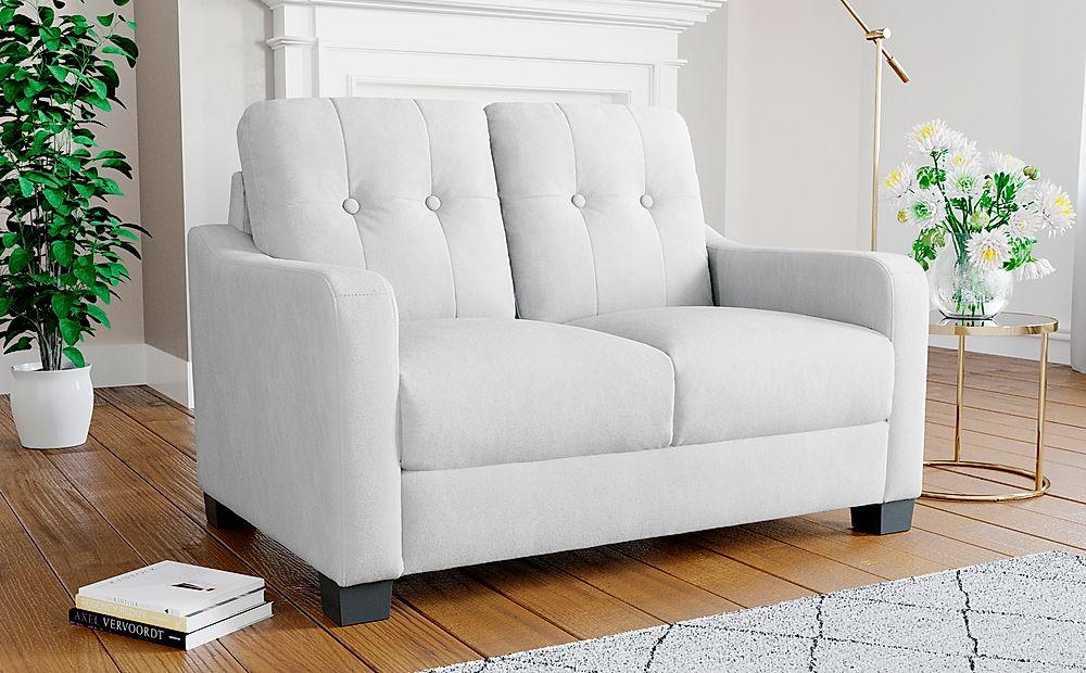 Belmont Dove Grey Plush Fabric Sofa 2 Seater