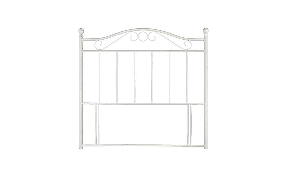 Sussex White Metal Single Headboard