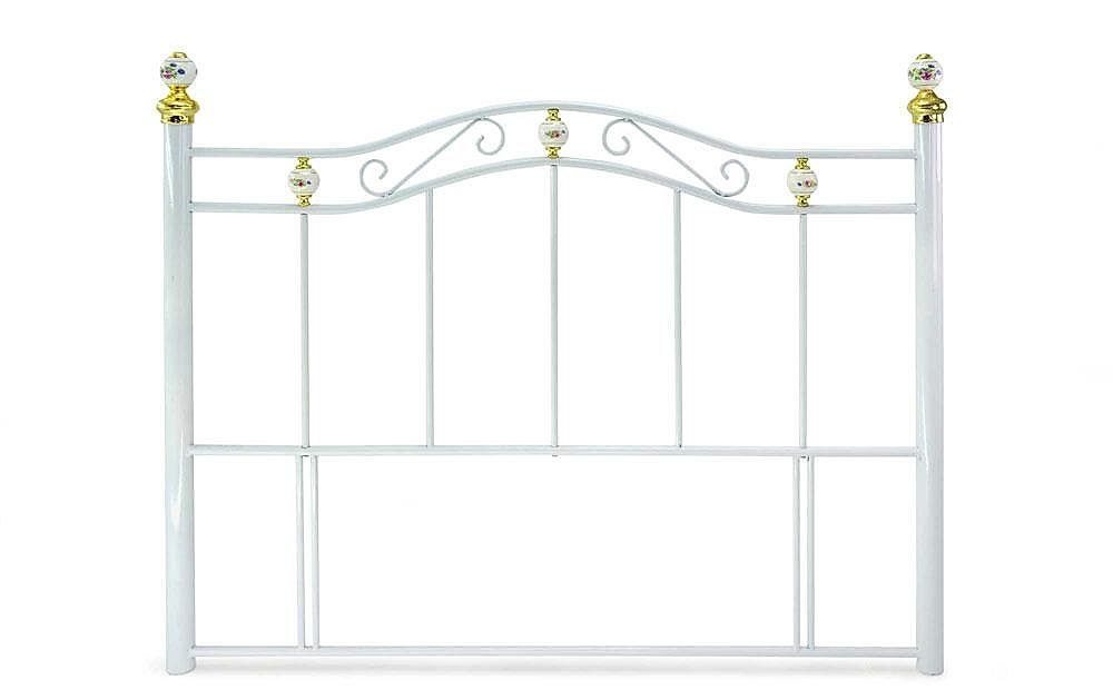 Warwick White Metal Double Headboard