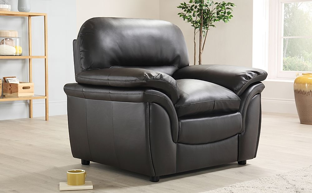 Rochester Dark Brown Leather Armchair