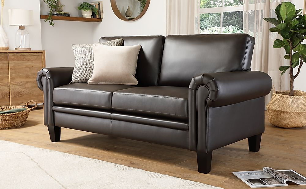 Oakley Brown Leather 2 Seater Sofa
