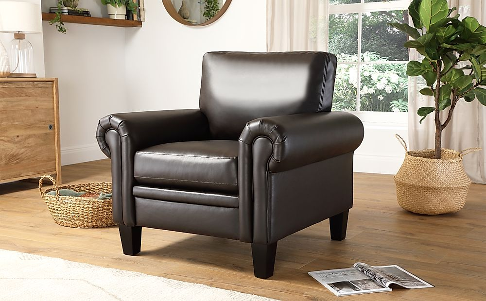 Oakley Brown Leather Armchair