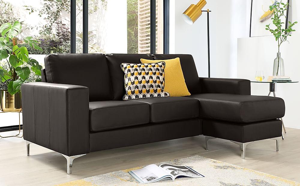 Baltimore Brown Leather L Shape Corner Sofa