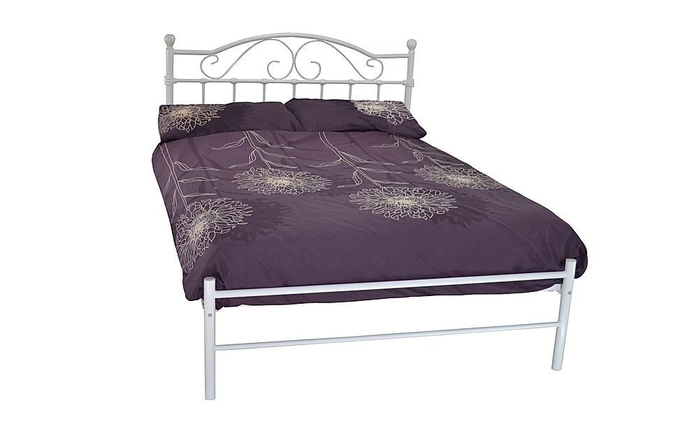 Sussex White Metal Double Bed