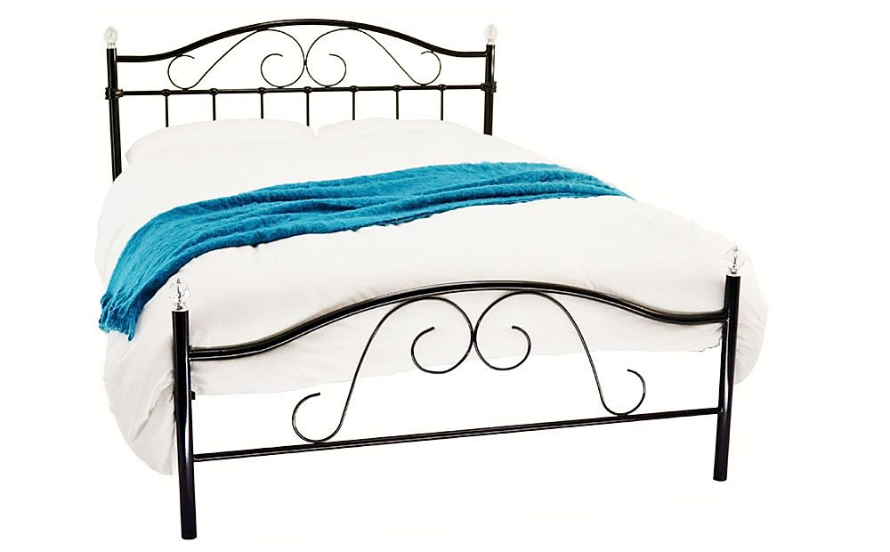 Sussex Black Metal King Size Bed
