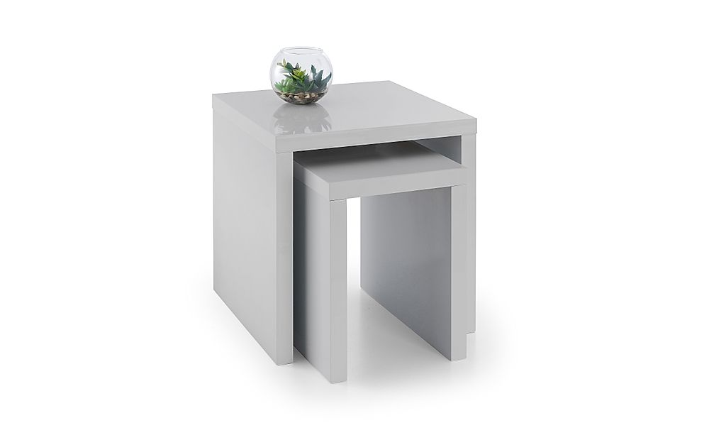 Strand Grey Gloss Nest of Side Tables