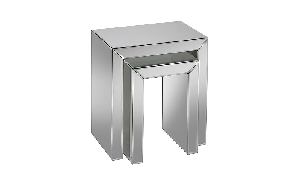 Valencia Mirrored Nest of Side 2 Tables