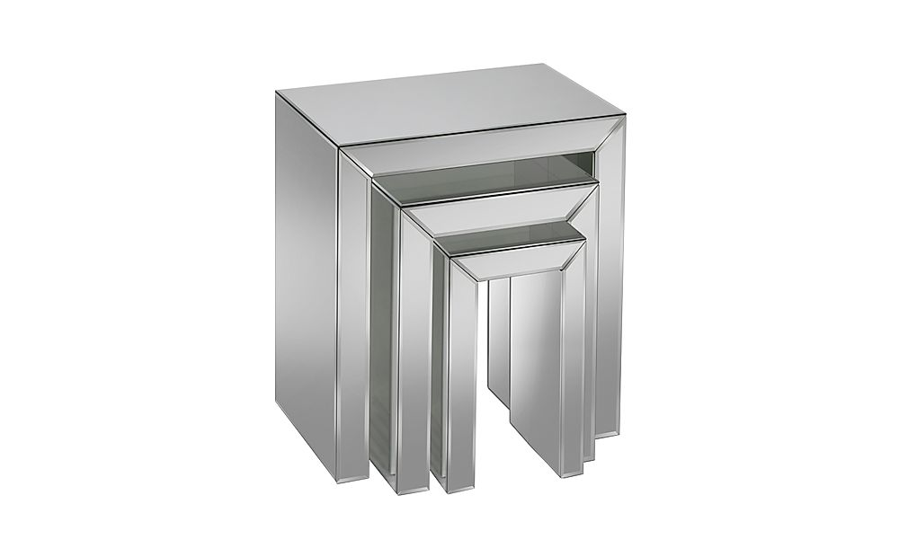 Valencia Mirrored Nest of Side 3 Tables