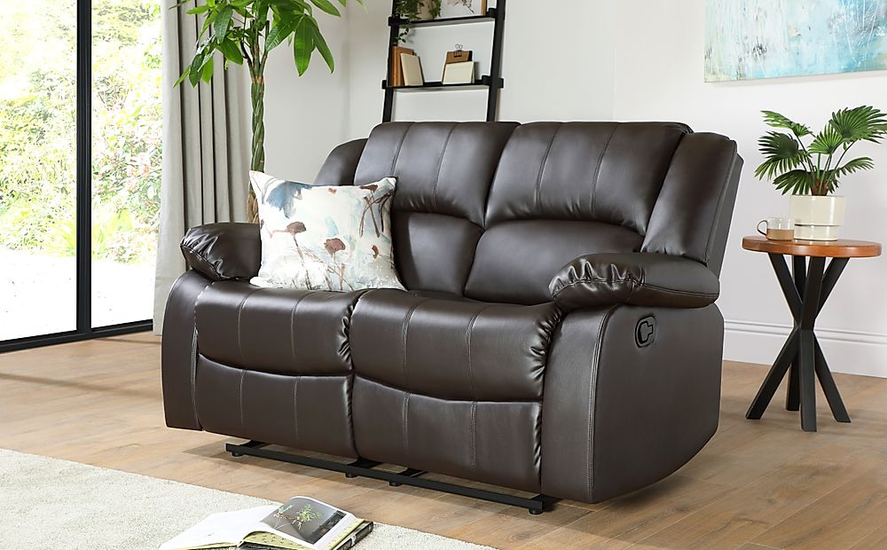 Dakota Brown Leather 2 Seater Recliner Sofa
