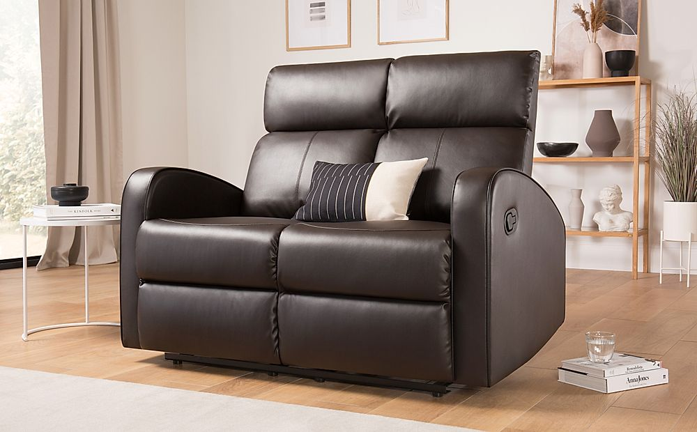 Ashby Brown Leather Recliner Sofa 2 Seater