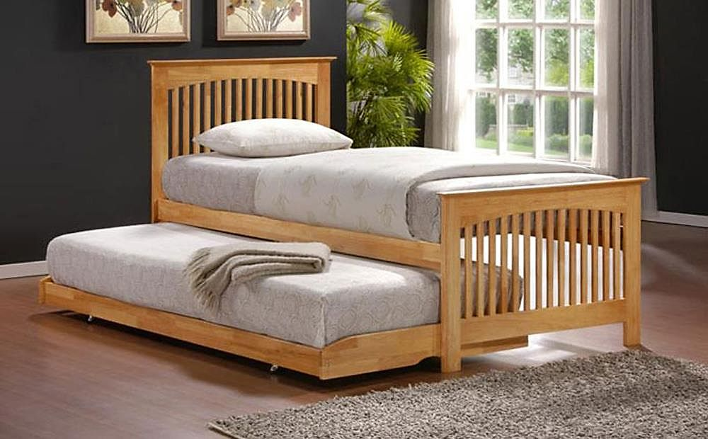 Toronto Oak Wooden Guest Bed