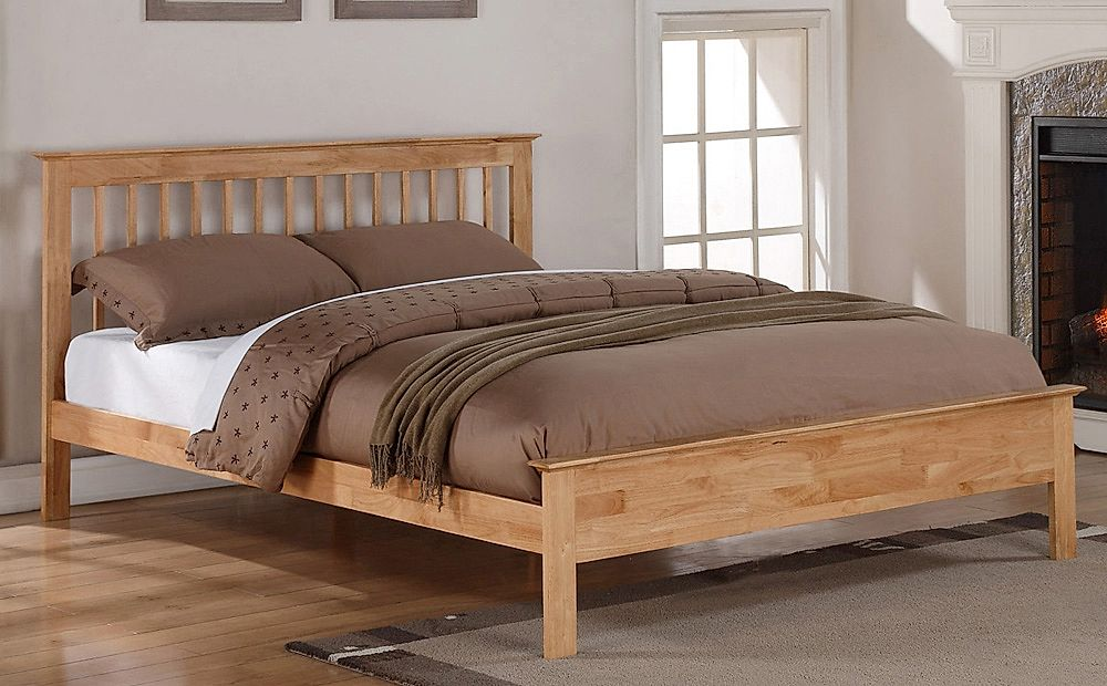 Pentre Wooden Double Bed