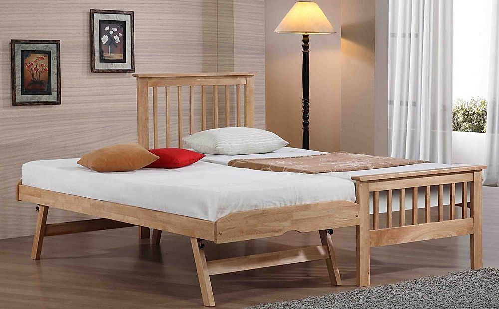 Pentre Wooden Single Guest Bed