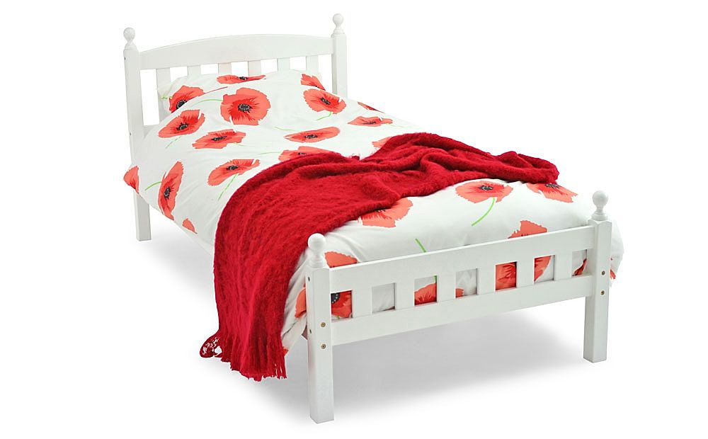Florence White Wooden Double Bed