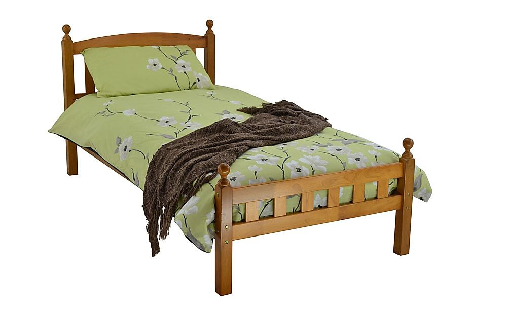 Florence Antique Pine Wooden Double Bed