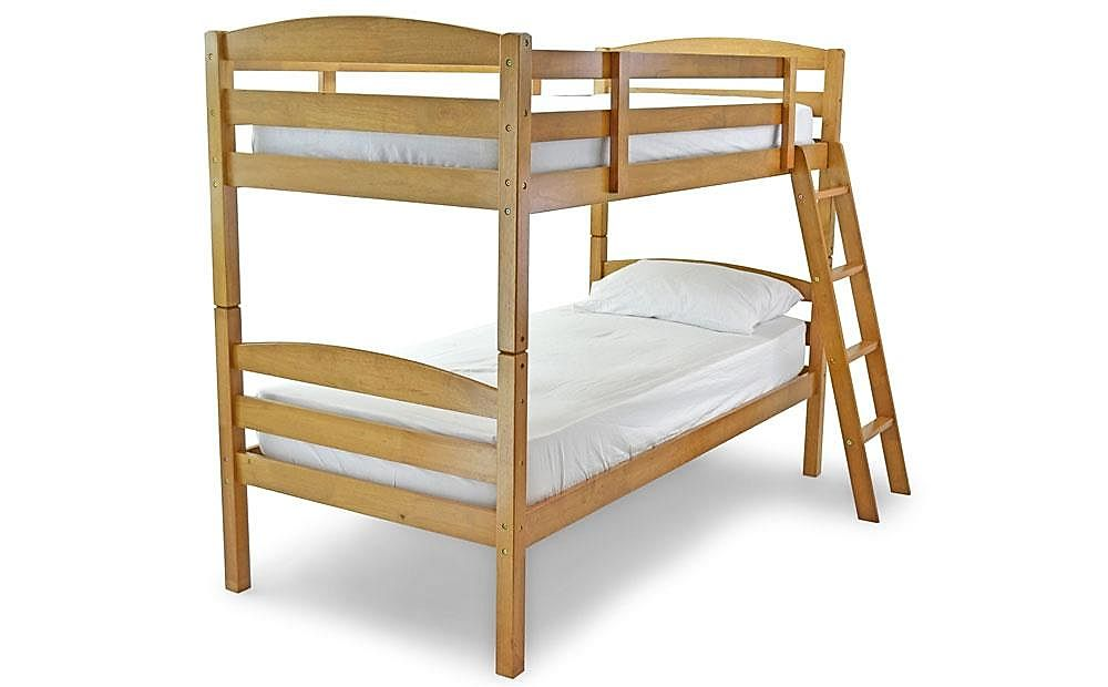 Moderna Antique Pine Wooden Bunk Bed