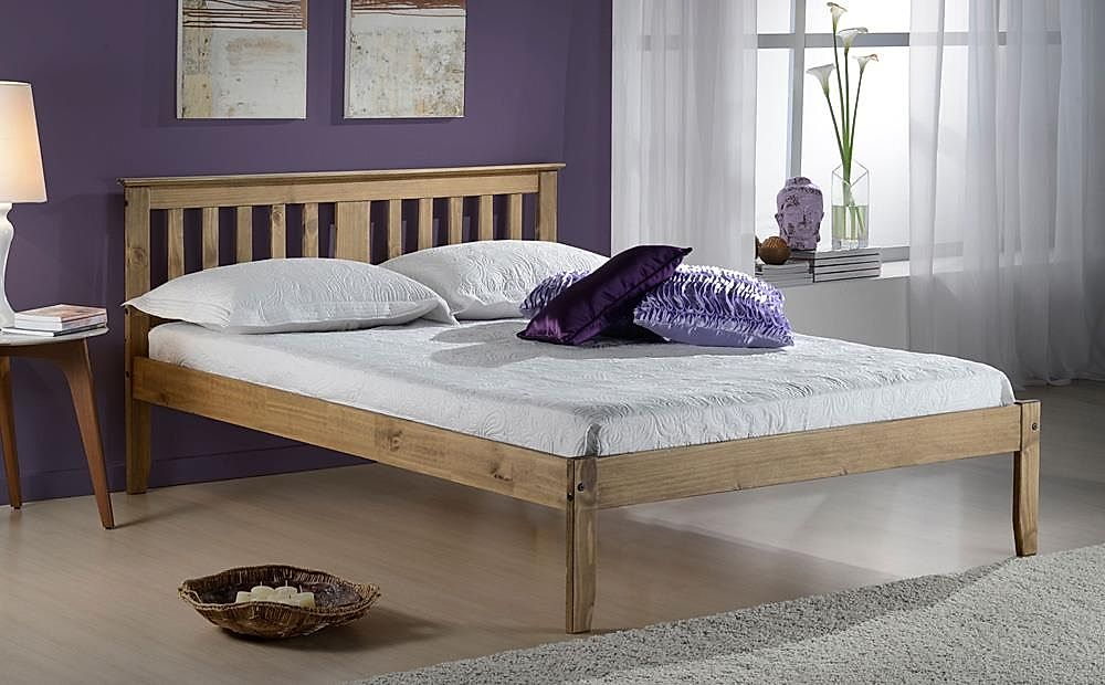 Salvador Pine Wooden Bed Small Double