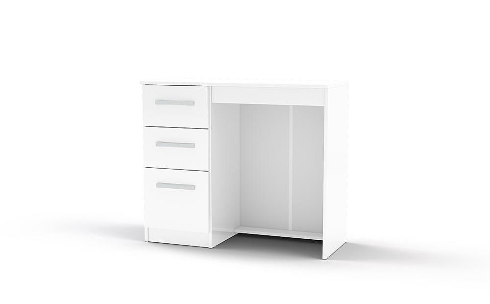 Lynx White High Gloss 3 Drawer Dressing Table