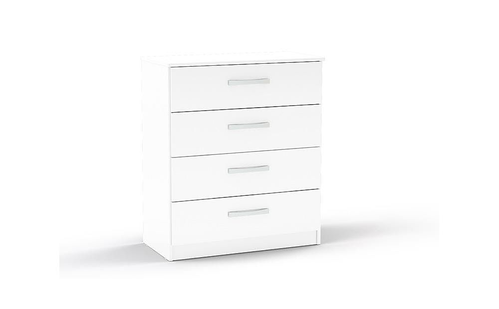 Lynx White High Gloss 4 Drawer Chest of Drawers