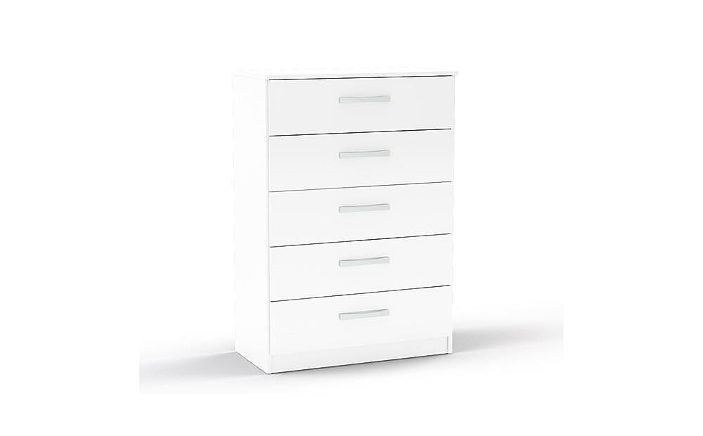 Lynx White High Gloss 5 Drawer Chest of Drawers