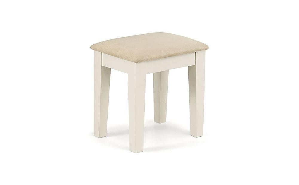 Portland Stone White Dressing Table Stool