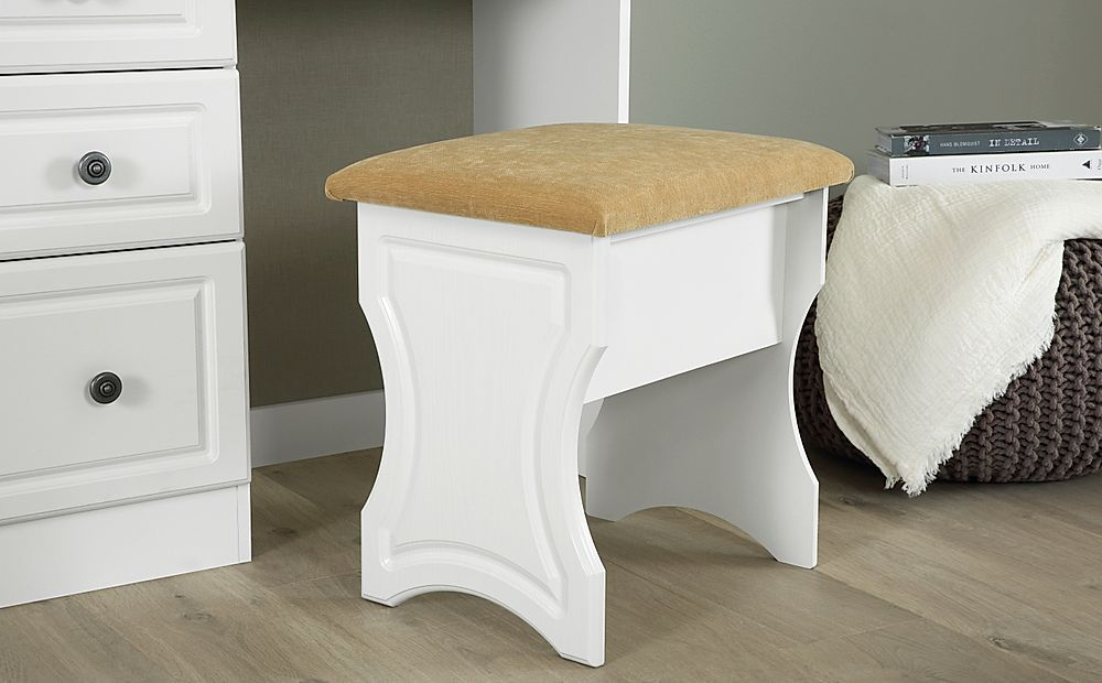 Pembroke White Dressing Table Stool
