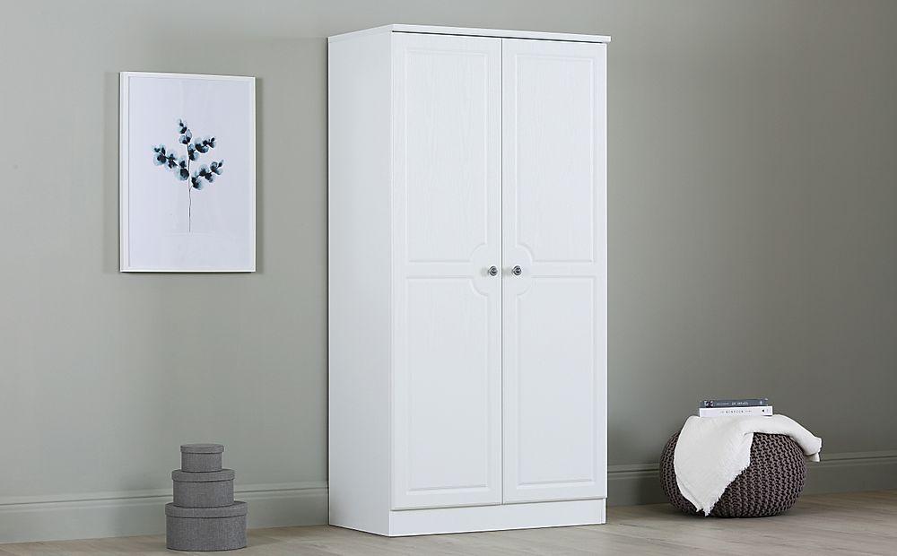 Pembroke White 2 Door 3ft Wardrobe