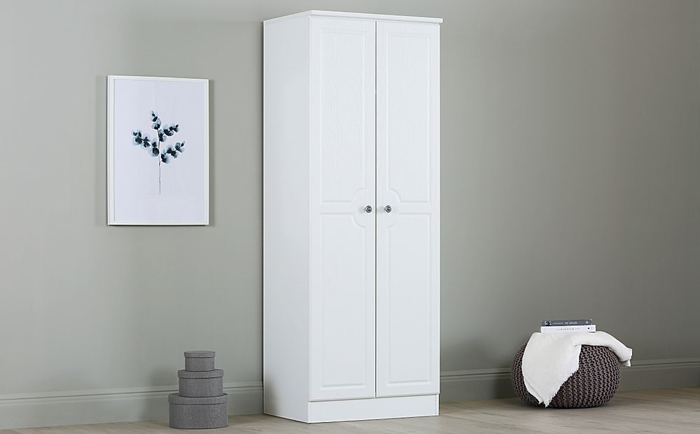 Pembroke White Tall 2 Door Wardrobe