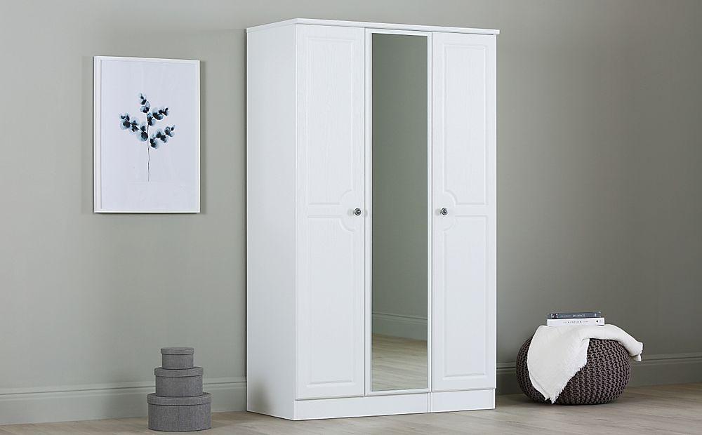 Pembroke White Triple Mirrored Wardrobe