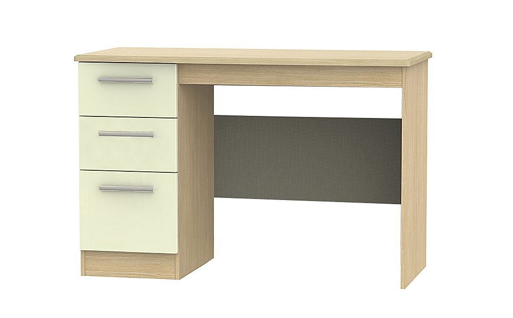 Knightsbridge Cream High Gloss And Oak Desk