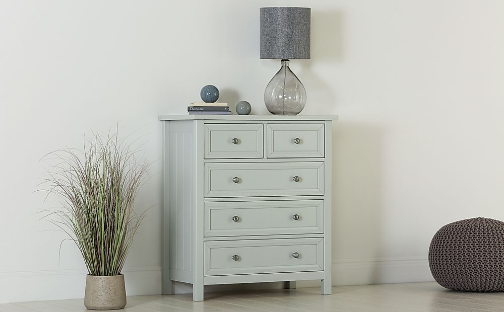 Dorset Dove Grey 5 Drawer Chest of Drawers
