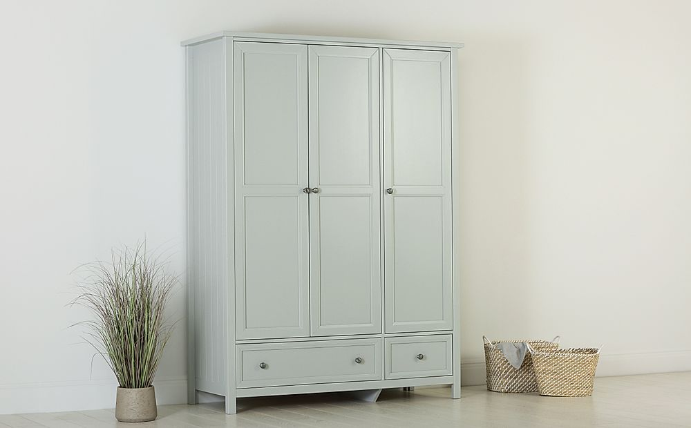 Dorset Dove Grey 3 Door 2 Drawer Wardrobe