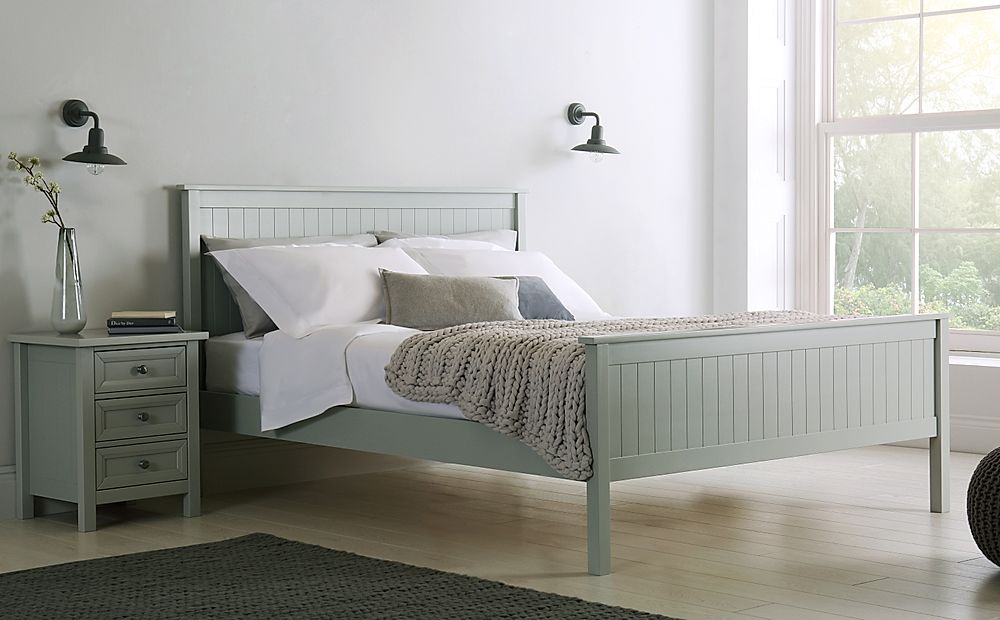 Dorset Dove Grey Wooden Double Bed
