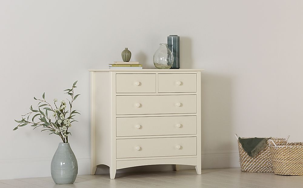 Chatham Stone White 5 Drawer Chest of Drawers